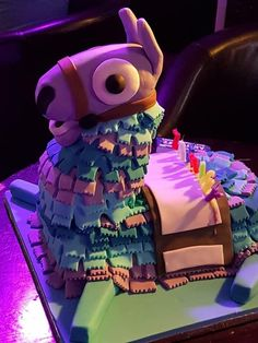 A Fortnite Llama Cake would be a great addition to any Fortnite themed party Birthday Cakes For Teens, 10th Birthday Parties, Cool Birthday Cakes, Birthday Ideas, Teen Cakes, Cakes For Boys, Llama Birthday, Boy Birthday, Happy Birthday
