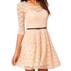 OFTEN (TM) Sexy O-Neck 3/4 Sleeve Day Holiday Prom Belt Lace Skater Dress DADITONG http://www.amazon.co.uk/dp/B00DQ449Z4/ref=cm_sw_r_pi_dp_d4lxvb0WSZ68V