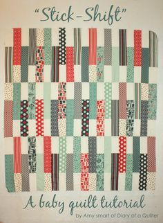Jolly Bars - Baby Quilt Tutorial - Diary of a Quilter - a quilt blog