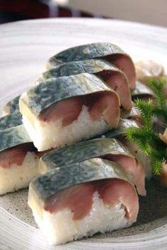 Sushi of Vinegared Mackerel, Japanese SABA Fish My favorite sushi roll T T