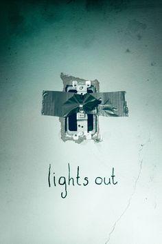 Lights Out Movie Poster - Teresa Palmer, Gabriel Bateman, Alexander DiPersia  #LightsOut, #TeresaPalmer, #GabrielBateman, #AlexanderDiPersia, #DavidSandberg, #Horror, #Art, #Film, #Movie, #Poster