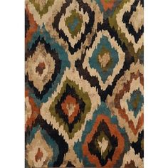 Shop for Bold Ikat Blue/ Brown Rug (10' X 13'). Get free shipping at Overstock.com - Your Online Home Decor Outlet Store! Get 5% in rewards with Club O!