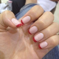 Unghie french manicure - Red french #nails
