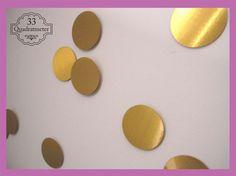 Cute x D Kreise Punkte Wanddeko silber gold