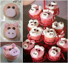 piggy cupcakes tutorial