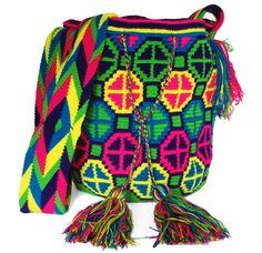 Multi-color Mochila Tribal wayuu patterns Patrones wayuu tradicionales 100% colombian, made in la guajira by the wayuu tribe. #mochilas  #mochilas wayuu #wayuu bags
