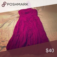 One shoulder dress Beautiful fuchsia one shoulder dress. Worn once for a wedding. Quillaree Dresses One Shoulder