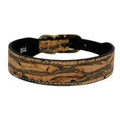 cork collection dog collar pewter stripe