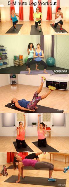 Slimmer, Stronger, Longer: 5-Minute Leg Workout
