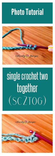 Learn to single crochet two together in this photo tutorial | sc2tog | single crochet decrease | crochet tutorial sc2tog | sc2tog crochet tutorial | how to decrease in crochet | single crochet decrease tutorial