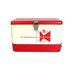 cc9769b7ce3328 Vintage Metal Budweiser Cooler