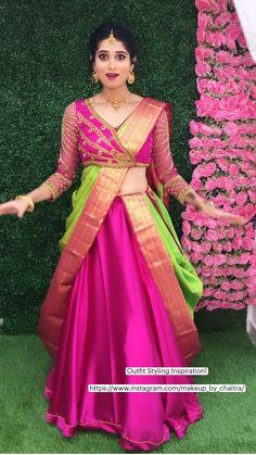 New Saree Designs, Kids Blouse Designs, Bridal Blouse Designs, Designs For Dresses, Lehenga Saree Design, Lehenga Designs, Dress Indian Style, Indian Fashion Dresses, Cutwork Blouse Designs