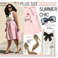 How To Wear Plus Size Fashion-Summer Chic Outfit Idea 2017 - Fashion Trends Ready To Wear For Plus Size, Curvy Women Over 50 Curvy Outfits, Chic Outfits, Fashion Outfits, Fashion Tips, Fashion Ideas, Plus Size Summer Outfit, Plus Size Outfits, Curvy Girl Fashion, Plus Size Fashion