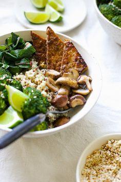Quinoa Buddha Bowl With Miso Gravy: 20 Wholesome Buddha Bowls to Nourish Your Body via Brit + Co