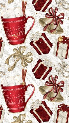 Holiday wallpaper backgrounds xmas new ideas Christmas Paper, Winter Christmas, Christmas Time, Christmas Crafts, Christmas Decorations, Handmade Christmas, Christmas Wreaths, Christmas Phone Wallpaper, Holiday Wallpaper