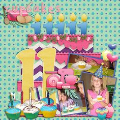 """Created with a birthday cake template  pack by Brenian Designs titled 'Birthday Time 2'.  The template pack includes numbers 9-12. There are matching template packs 'Birthday Time' with numbers 1-4 plus 'Birthday Time 1' with numbers 5-8  <a rel=""""nofollow"""" href=""""http://www.godigitalscrapbooking.com/shop/index.php?main_page=product_dnld_info&products_id=27596"""" target=""""_blank"""">http:&#x2F..."""