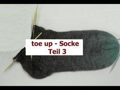 Socken stricken Teil 3 - toe up - von der Spitze aus - mit Veronika Hug