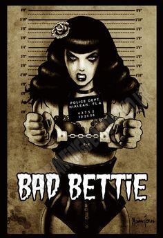 Bad Bettie! Art by Marcus Jones