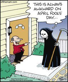 Lol poor guy:) Happy April fool's day everybody! Political Cartoons, Funny Cartoons, Funny Comics, Funny Memes, Hilarious, Jokes, Comedy Comics, Halloween Cartoons, Halloween Quotes
