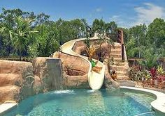 #luxury Pools #swimming Pools Has Big Waterslide With Grotto. Lady River  And A Mutiple Waterffalls. @Elite Pools By Scott, Little Rock, AR   Luxuu2026