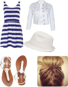 """""""church outfit"""" by brooke-blair.........love this but probably wouldn't wear the hat even though its super adorable"""