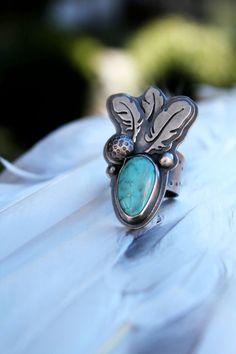 Hathor Ring. umber dove via Etsy.