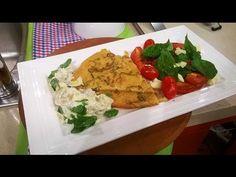 Fainá con ensalada caprese y vegetales asados - Recetas – Cocineros Argentinos