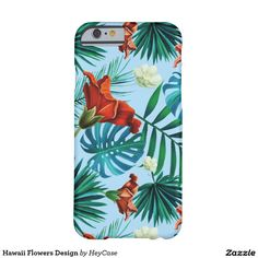 Hawaii Flowers Design Barely There iPhone 6 Case