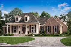 French Country House Plans, French Country Bedrooms, French Country Style, French Country Decorating, Country Bathrooms, Rustic French, Acadian Homes, Acadian House Plans, New House Plans