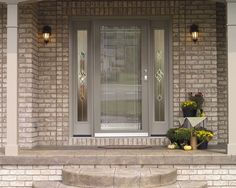 Looking to improve the curb appeal of your home? one of the best ways is with a new front door. exterior source carries a wide array of entry and patio door Front Door Entrance, Front Entrances, Entry Doors, Front Doors, Best Storm Doors, Glass Storm Doors, New Home Windows, House Windows, Exterior Doors With Sidelights