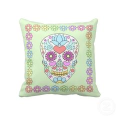 Browse our amazing and unique Green wedding gifts today. The happy couple will cherish a sentimental gift from Zazzle. Skull Pillow, Green Throw Pillows, Sentimental Gifts, Green Wedding, Sugar Skull, Wedding Gifts, Cottage, Craft Ideas, Beach