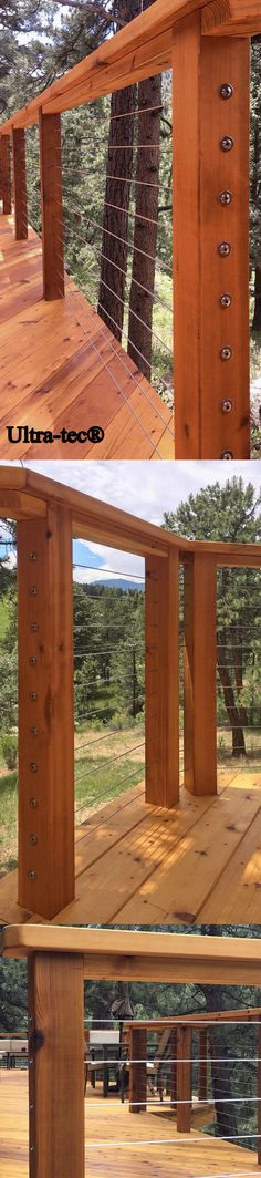 Ultra-tec® cable railing infill. This project was installed by #diy homeowner Toby D. He was impressed with the the ease of installation and the finished product.
