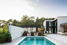 aménagement jardin avec piscine design moderne