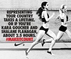kara goucher & shalane flanagan! olympic marathon, london 2012!! let's go!
