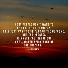 Or they want to be in the fun, successful parts, not the stuff that's difficult or tedious. ..: