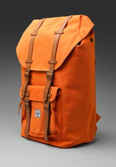 Shop for Herschel Supply Co. Little America Canvas) Backpack in Burnt Orange at REVOLVE. Free day shipping and returns, 30 day price match guarantee. Herschel Supply Co, Style And Grace, My Style, Travel Must Haves, Travel Ideas, Vintage Backpacks, Men Closet, Types Of Girls, Orange Crush