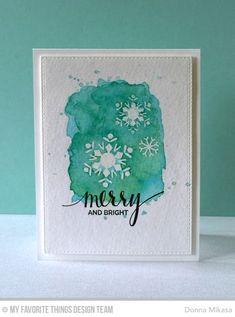 three umbrellas: CAS(E) this Sketch 149 Homemade Christmas Cards, Christmas Art, Handmade Christmas, Winter Christmas, Watercolor Christmas Cards, Watercolor Cards, Watercolour, Xmas Cards, Holiday Cards