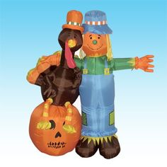 This Thanksgiving inflatable is sure to bring delight to children and adults alike. Don't think about where you are going to store it until next Thanks giving. Once deflated, it's compact design makes storage easy and allows it to be stored alm. Thanksgiving Inflatables, Easter Inflatables, Christmas Inflatables, Halloween Inflatables, Halloween Decorations, Christmas Decorations, Holiday Decor, Thanksgiving Decorations Outdoor, Yard Decorations