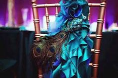 peacock and orange decorations for wedding - Google Search