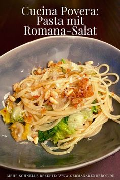 Cucina povera: Spaghetti mit Romana-Salat