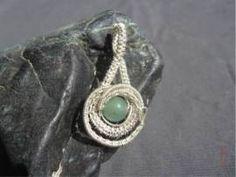 Anhänger mit Aventurin - Bild vergrößern Handmade Wire Jewelry, Shops, Gemstone Rings, Gemstones, Bracelets, Handarbeit, Jewerly, Tents, Gems