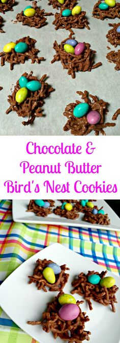 chocolate.peanut butter bird nests cookies