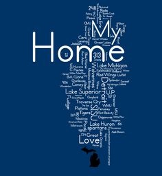 """New Design - """"My Home"""" @ www.downwithdetroit.com #Michigan"""
