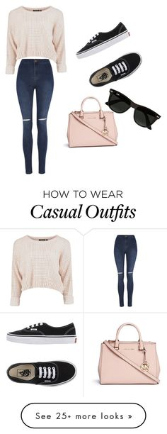 """""""Fun and casual """" by angelakwiek on Polyvore featuring George, Vans, Michael Kors and Ray-Ban"""