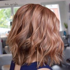 Rosegold haircolor. Rose gold hair