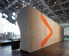 D'art Design puts 8,140 cardboard tubes in a new context at EuroShop 2008 for Projektpilot. | via behance.net | #3DDesign #Design