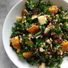 While everyone is getting excited about pumpkin spice lattes and apple pie, we're all suited up to make a hearty fall salad that doubles ...