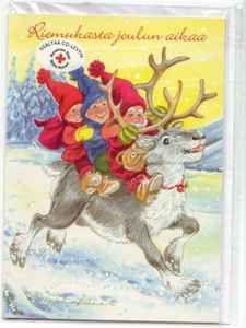 Marjaliisa Pitkäranta Faeries, Gnomes, Illustrators, Christmas Cards, Moose Art, October, Animals, Christmas E Cards, Animales