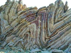 Syncline and anticline folds