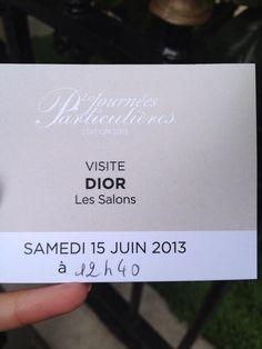 #JPLVMH #Dior #Montaigne Twitter / alaterriere : Visite #dior journées ...